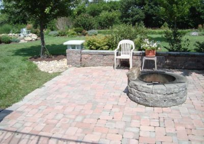 Woody's Lawn & Landscape Lincoln, NE | Patio with Fire Feature