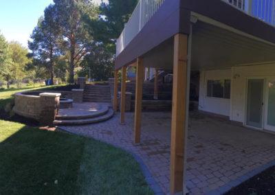 Woody's Lawn & Landscape Lincoln, NE | Back Patio