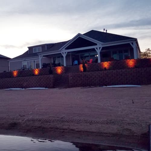 Outdoor Landscape Lighting In Lincoln Ne Woodys Lawn